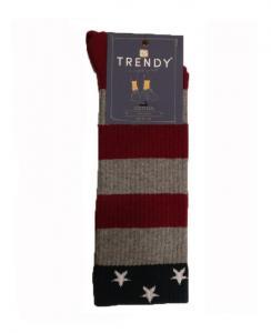 Μοντέρνα κάλτσα ριγέ με αστεράκια στο λάστιχο TRENDY