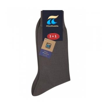 Ανδρική βαμβακερή κάλτσα 1+1 pournara