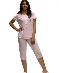 Πυτζαμάκι με κάπρι πουά παντελόνι και μπλούζακι με κοντό μανίκι ΓΙΩΤΑ
