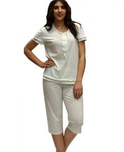 Πυτζάμακι με κάπρι πουά παντελόνι και μπλούζακι με κοντό μανίκι ΓΙΩΤΑ