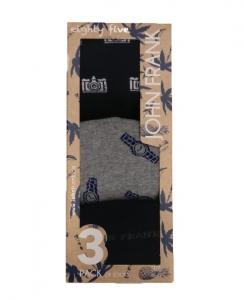 Μοντέρνα κάλτσα 3 pack John Frank