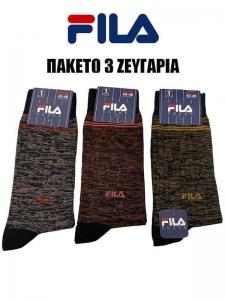 Skip to the beginning of the images gallery Πακέτο 3 Ζευγάρια Κάλτσες Ανδρικές Fila 5301