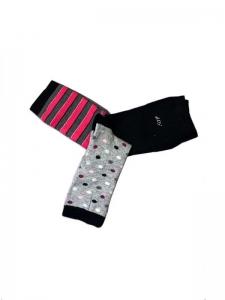 Πακέτο 3 ζευγάρια γυναικείες κάλτσες γραμμές
