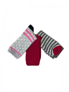 Πακέτο 3 ζευγάρια γυναικείες κάλτσες σχέδιο ριγέ πουά