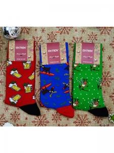 Κάλτσες ανδρικέ 3 ζεύγη χριστουγενιάτικα σχέδια Νο6