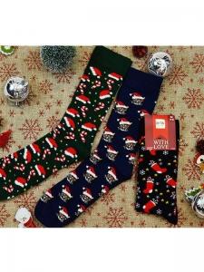 Κάλτσες ανδρικές 3 ζεύγη χριστουγενιάτικα σχέδια