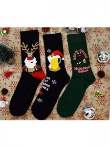 Κάλτσες ανδρικές 3 ζεύγη χριστουγενιάτικα σχέδια Νο10