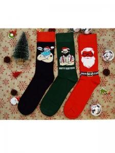Κάλτσες ανδρικές 3 ζεύγη χριστουγενιάτικα σχέδια Νο11