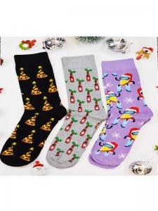 Κάλτσες ανδρικές 3 ζεύγη χριστουγενιάτικα σχέδια Νο13