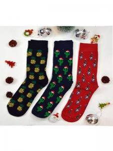 Κάλτσες ανδρικές 3 ζεύγη χριστουγενιάτικα σχέδια Νο14