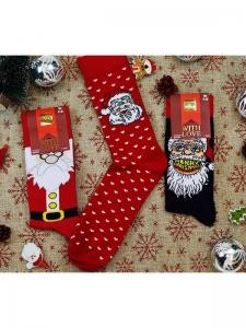 Κάλτσες ανδρικές 3 ζεύγη χριστουγενιάτικα σχέδια Νο3