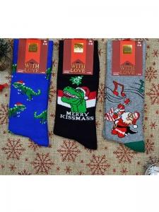 Κάλτσες ανδρικές 3 ζεύγη χριστουγενιάτικα σχέδια Νο7