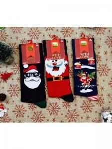 Κάλτσες ανδρικές 3 ζεύγη χριστουγενιάτικα σχέδια Νο8