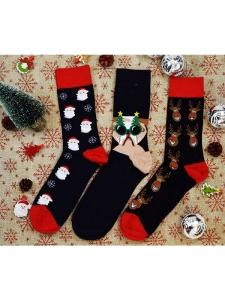 Κάλτσες ανδρικές 3 ζεύγη χριστουγενιάτικα σχέδια Νο9
