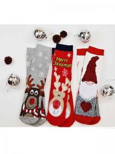 Κάλτσες παιδικές 3 ζεύγη χριστουγενιάτικα σχέδια Νο3