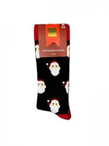Χριστουγεννιάτικες Κάλτσες Άγιος Βασίλης μαύρη