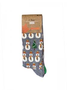 Χριστουγεννιάτικες Κάλτσες χιονάνθρωπος γκρι