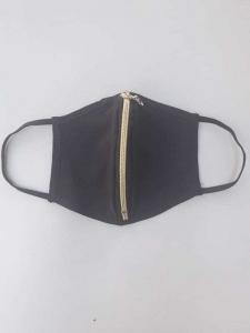 Μάσκα προστασίας προσώπου μαύρη με φερμουάρ