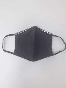 Μάσκα προστασίας προσώπου μαύρη με τρούκς