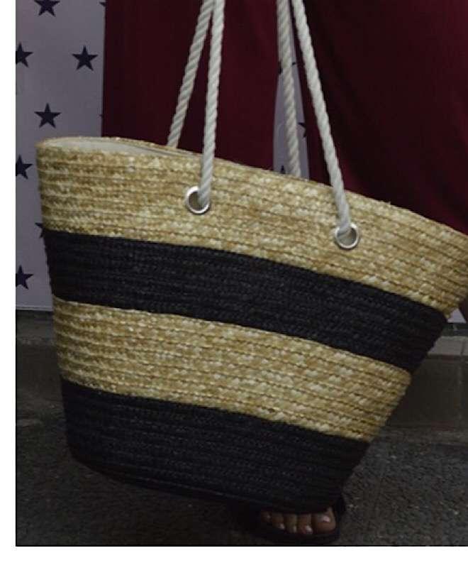 0c29d55d81 Τσάντα ψάθινο καλάθι με φερμουαρ
