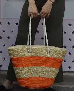 Τσάντα ψάθινο καλάθι