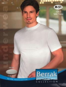 Φανέλα κοντομάνικη κλειστός λαιμός - 100% βαμβακερή Berrak