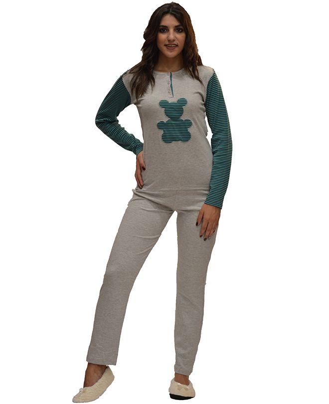 Πυτζάμα γυναικεία με μακρύ μανίκι AMELIE 08f89be1e08
