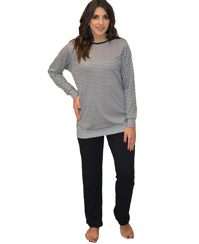 Πυτζάμα με μαύρο παντελόνι και ιδιαίτερη μπλούζα f7fccc0b77a