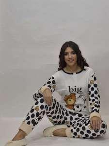 Πυτζάμα γυναικεία με σχέδιο αρκουδάκια Crazy Farm