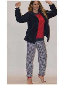 Πυτζάμα κόκκινη με παντελόνι σχέδιο  AMELIE