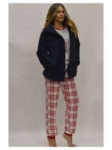Πυτζάμα με σχέδιο Κάρω παντελόνι  κόκκινο  Crazy Farm