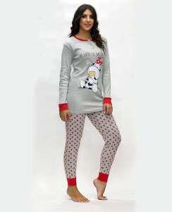 Πυτζάμα με μακριά μπλούζα και παντελόνι πουά AMELIE