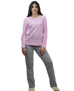 Πιτζάμα με Ροζ Μπλούζα  Γκρι Παντελόνι ΓΙΩΤΑ