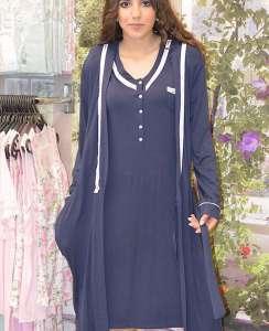 Ρόμπα μονόχρωμη σταυρωτη μπλε με  μανίκι  AMELIE