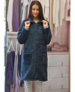 Ρόμπα Γυναικεία Με Μακρύ Μανίκι Γουνάκι Eco Fur AMELIE