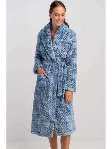 Ρόμπα Γυναικεία  Γιώτα Touch Me fleece Γαλάζιο ΓΙΩΤΑ