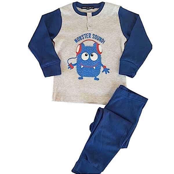 Πυτζάμα παιδική με μπλε ρουά παντελόνι