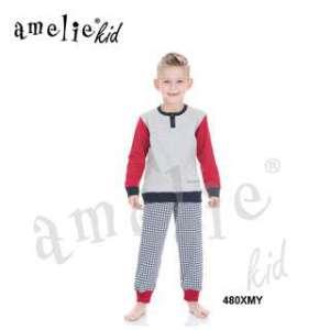 Πυτζάμα Παιδική Για Αγόρι Με Μακρύ Μανίκι και Μακρύ Παντελόνι Xmy Prenatale AMELIE