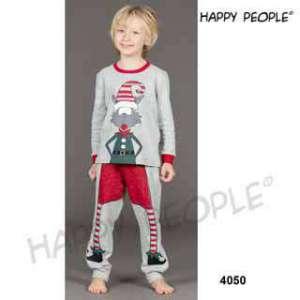 Πυτζάμα Παιδική Για Αγόρι Με Μακρύ Μανίκι  Μακρύ Παντελόνι Natale Happy People