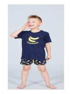 Πυτζάμα μπανάνα μπλε για αγόρι XMY