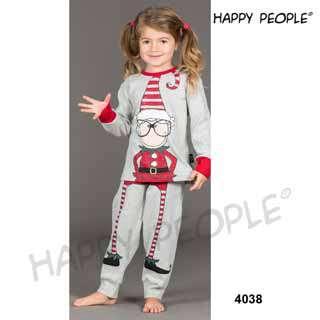 Πυτζάμα Παιδική Για Κορίτσι Με Μακρύ Μανίκι και Μακρύ Παντελόνι Natale
