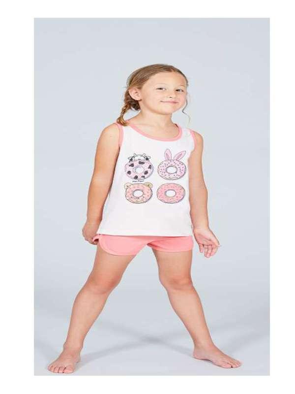 Πυτζάμα Kids Crazy Farm donuts 32056CF