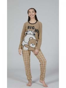 Πυτζάμα Εφηβική Κορίτσι Big HUg Crazy Farm