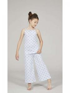 Πυτζάμα παιδική μακρύ παντελόνι ρίγες καρδιές XMY676-2